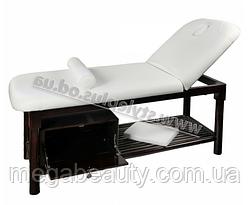Массажный стол двухсекционный ZD-870 для массажа, высота-75см, цвет - белый