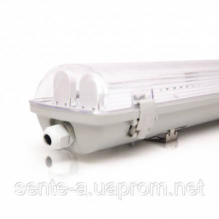 Светодиодный светильник 38842 без ламп EVRO-LED-SH-40 36W 6400К (2*1200мм) вытянутый белый IP65 Евросвет
