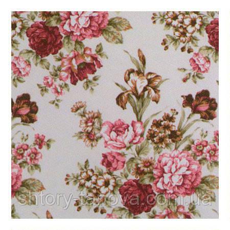 Ткань для штор ирисы розовый