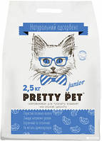Натуральный наполнитель для котов Pretty Pet 5 кг средняя гранула