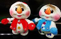 Веселый снеговик ручной работы  - 26 см