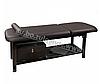 Массажный стол двухсекционный ZD-870 для массажа, высота-75см, цвет - темно-коричневый