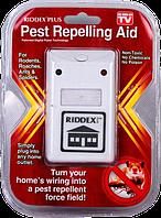 Отпугиватель тараканов, грызунов и насекомых RIDDEX: 1 кГц, 4 Вт, 200 м², электромагнитный, 6х9,5 см