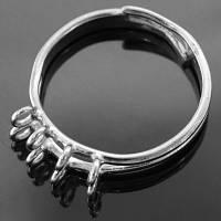 Основа для кольца Латунь, с 8 Петельками, Цвет: Платина, Размер: Диаметр 19мм, Внутри 17мм, (БА000001042)