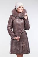 Пальто очень теплое зимнее женское с мехом песца размеры от 52 до 58