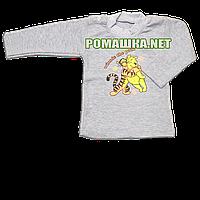 Детская водолазка р. 80 для мальчика ткань ИНТЕРЛОК 100% хлопок ТМ Алекс 3284 Серый