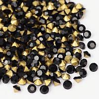 Стразы Бриллиант Стекло Класс А, Покрытые сзади, Граненые, Цвет: Черный, Размер: 6~6.2мм, (УТ0030633)