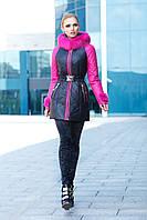 Куртка зима женская с мехом кролика размеры 44-50