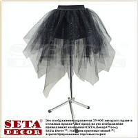 Чёрная юбка пачка из фатина с блестками