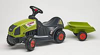 Трактор каталка с прицепом Falk CLAAS AXOS зеленый