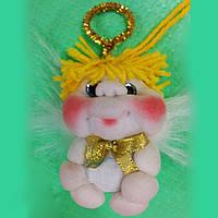 """Мягкая игрушка """" ангелок"""" ручной работы 11 см"""
