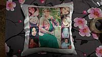 Подушка атласная с вашим фото