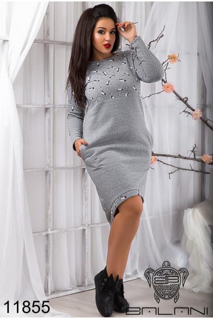 816237645a4c889 Модное Теплое платье на флисе (48-54), доставка по Украине, цена 520 ...