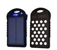 Портативное зарядное устройство Power Bank SOLAR 45000mAh с солнечной зарядкой + LED Фонарь(панель)