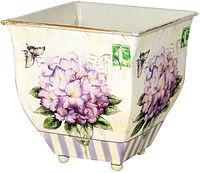 Кашпо-Тюльпан металлическое Гортензия 13,5x13,5cm ST 555-036-3