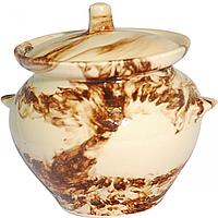 Горшок для запекания 0,45л Мрамор коричневый ST 81-450-012