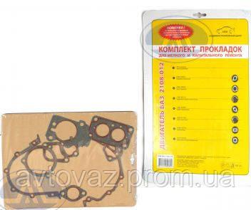 Прокладка двигателя ВАЗ 2108, ВАЗ 2109, ВАЗ 21099, ВАЗ 2110, ВАЗ 2112 (мягкий набор) БЦМ