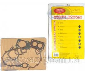 Прокладка двигуна ВАЗ 2108, ВАЗ 2109, ВАЗ 21099, ВАЗ 2110, ВАЗ 2112 (м'який набір) БЦМ
