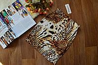 Стильная женская юбка мини принт Леопард светлый