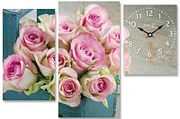 Часы настенные на холсте Розы 63*34см Your Time 06-411