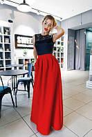 """Вечернее длинное женское платье с гипюром """"Афина"""""""