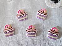 Серединка тортик, ліловий