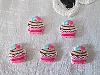 Серединка тортик, рожевий