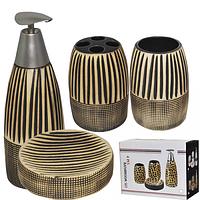 Набор аксессуаров для ванной комнаты Африка,4 пр SNT 888-005