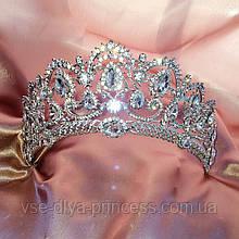 Корона, диадема, тиара в серебре, высота 6,5 см.