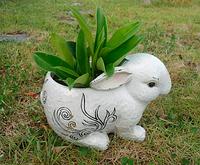 Садовая фигура кашпо для сада зайчик купить Харьков, Донецк, днепропертровск, Киев