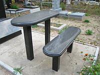 Стол и скамья из гранита №3