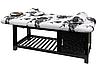 Двухсекционный стационарный массажный стол ZD-887, цвет как на фото, фото 2