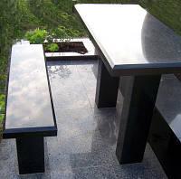 Стол и скамья из гранита №5