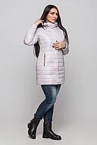 Куртка женская на силиконе зимняя с шарфом размеры 42-54, фото 3