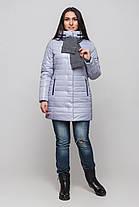 Куртка женская на силиконе зимняя с шарфом размеры 42-54, фото 2