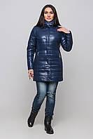 Куртка женская на силиконе зимняя с шарфом размеры 42-54