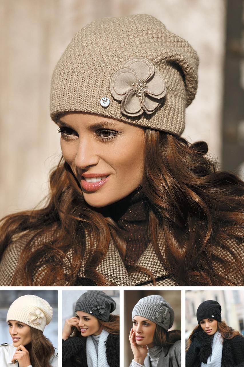 Красивая модная двойная шапка от Kamea 2016 - Sawana.