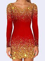 Сукня футляр 3D Червоний шик