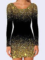 Сукня футляр 3D Чорний шик