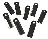 60-0170-61-02-0 Нож соломоизмельчителя подвижный ( 173*50*4, д20) зуб с 3х стор с втулк