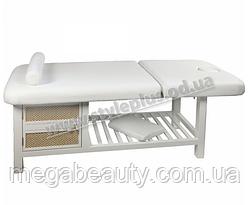 Массажный стол ZD-877А, цвет белый