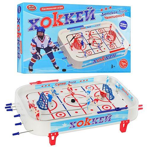 Хоккей 0700, настольный, 14 фигурок, 2 шайбы, наклейки