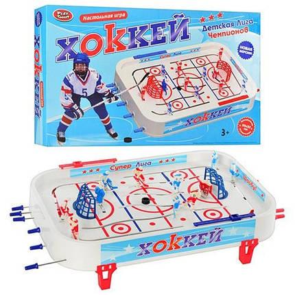 Хоккей 0700, настольный, 14 фигурок, 2 шайбы, наклейки, фото 2