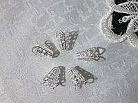 Обіймач для намистин, 1,3 см срібло
