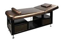 Двухсекционный стационарный массажный стол ZD-862 с 2-мя электроприводами,цвет-бронзовый