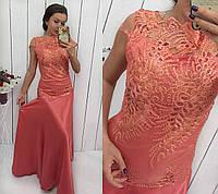 Вечернее платье приталенное до бедер 2 цвета