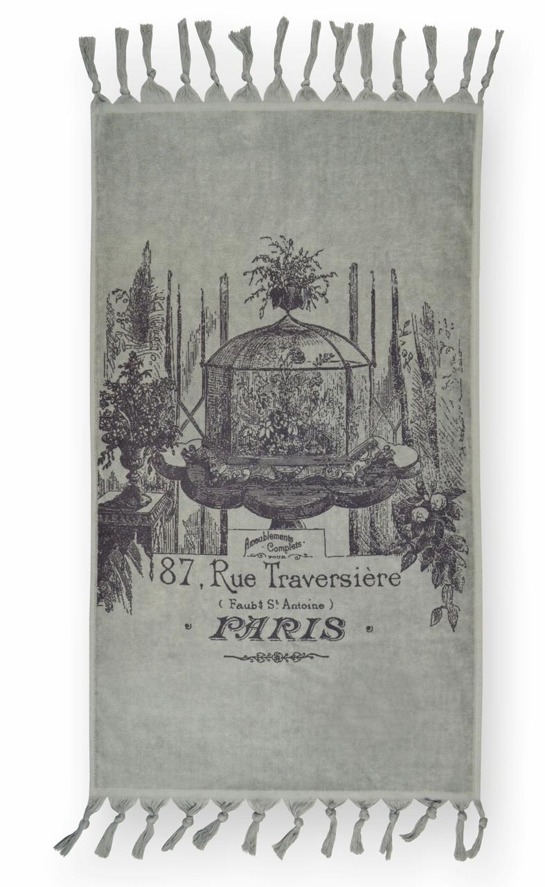 Рушник PARIS 68х127 сіре