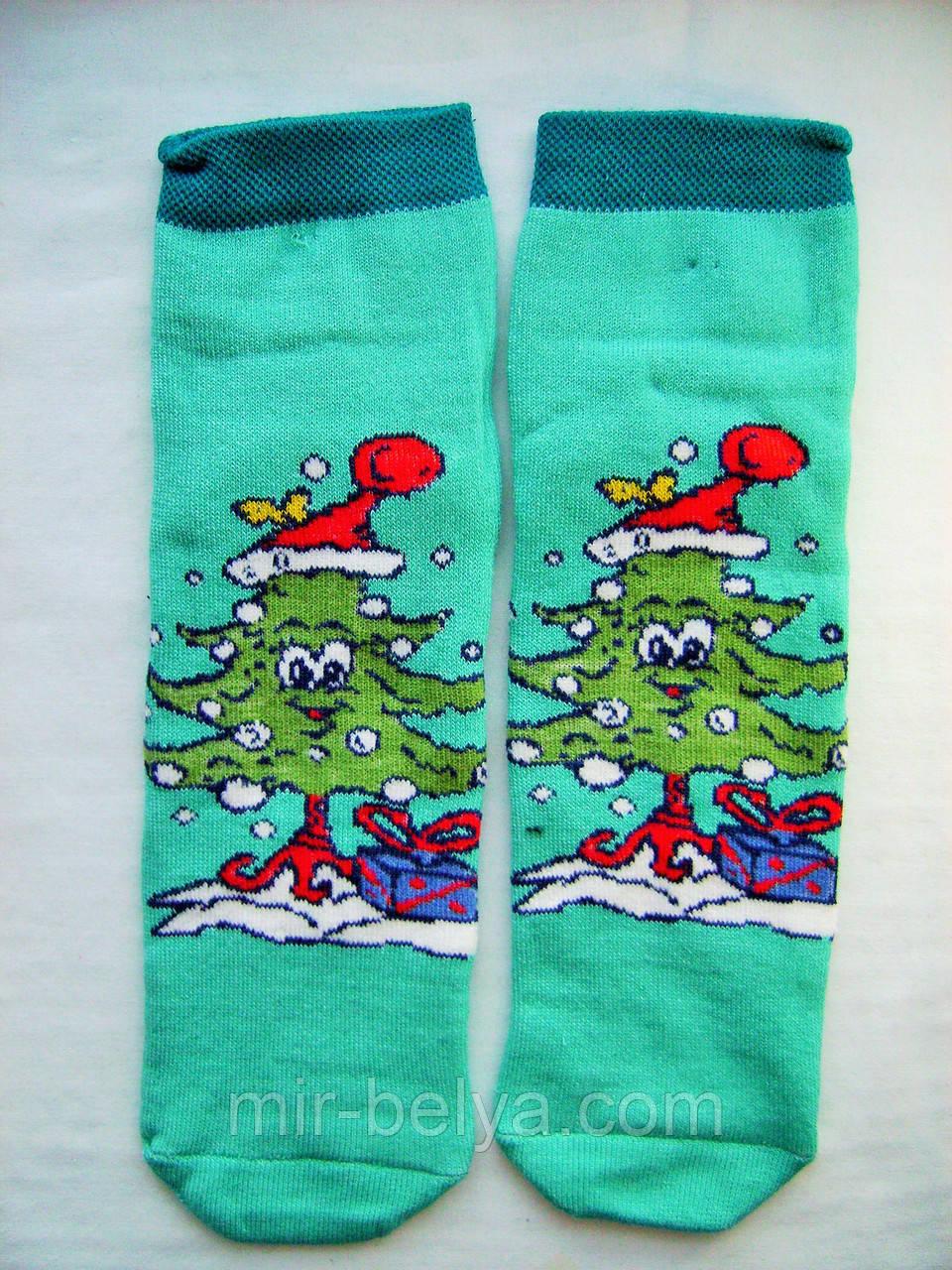 Женские яркие носки новогодние на подарок