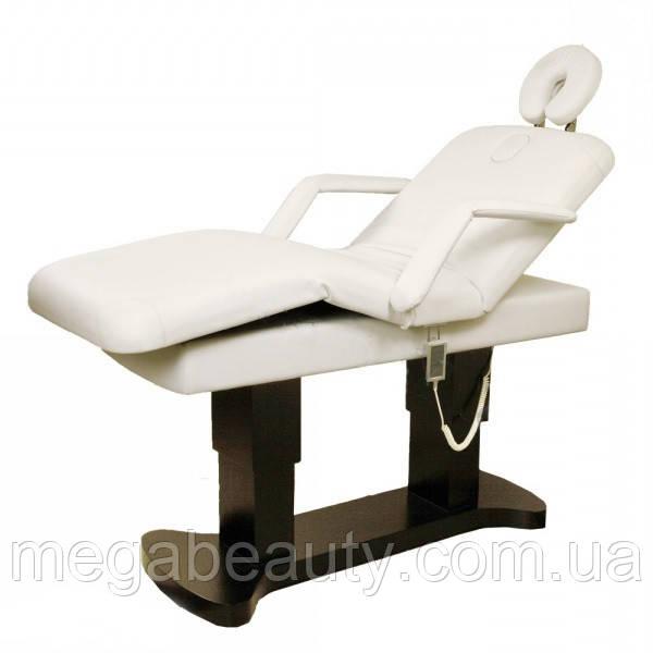 Косметологическая кушетка с подогревом, массажный стол ZD-866Н, цвет-белый