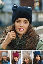 Красивая модная двойная шапка со стразами от Kamea 2016 - AGOTA.